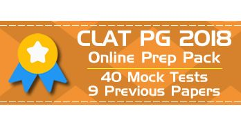 CLAT 2018 PG LLM - Online Preparation Pack, with Nine (9) Solved Previous Question Papers 2009 to 2017 and Forty (40) full length Mock tests for complete practice. Now a special launch price of Rs.799 only