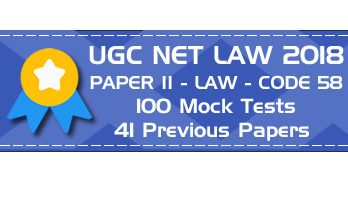 UGC NET Law Paper II 2018 - Previous Question Papers, Mock Tests, Practice Exams.